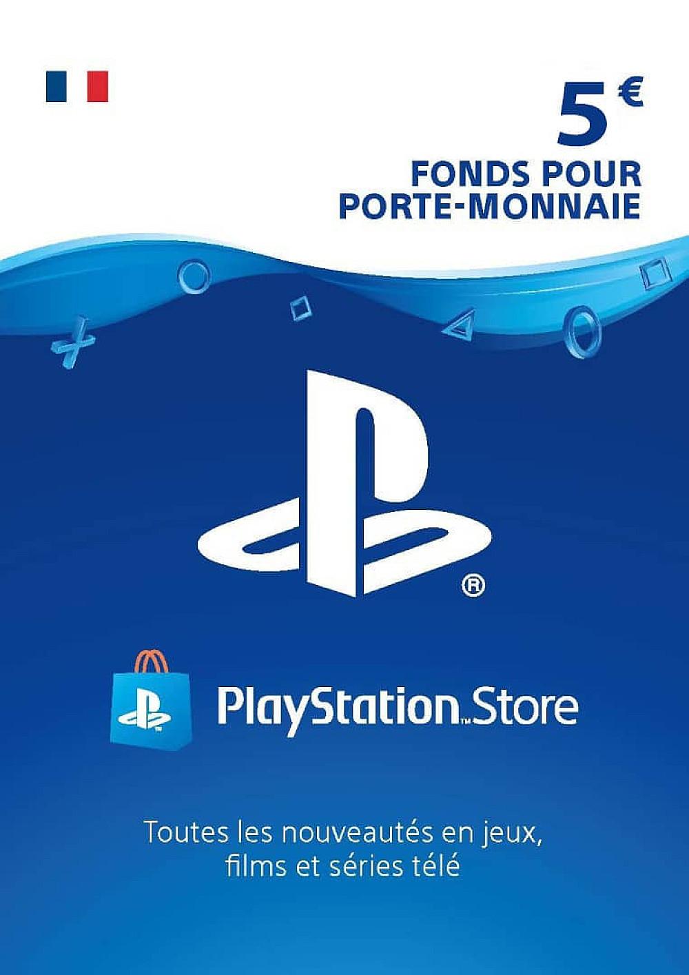 CARTE PSN 5€ FR