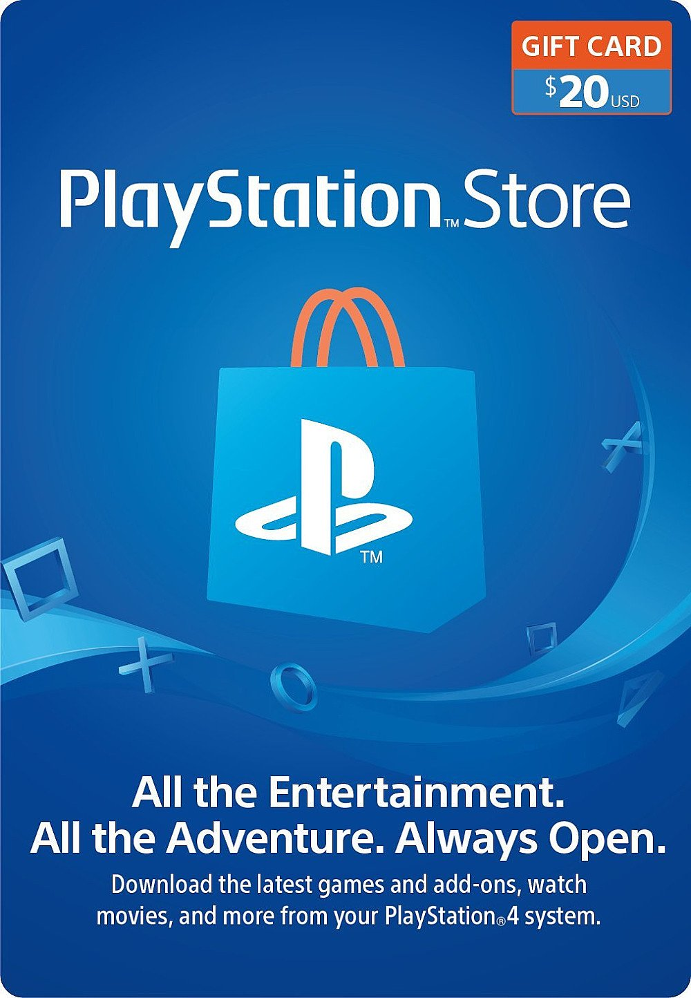CARTE PSN 20$ USA
