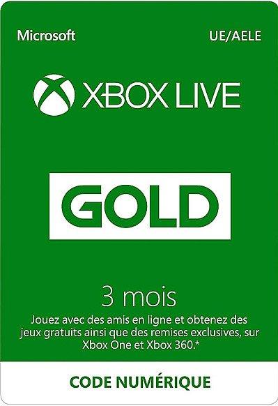 XBOX LIVE GOLD 3 MOIS FR