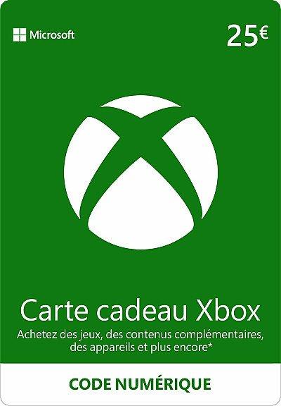CARTE XBOX LIVE 25€ FR
