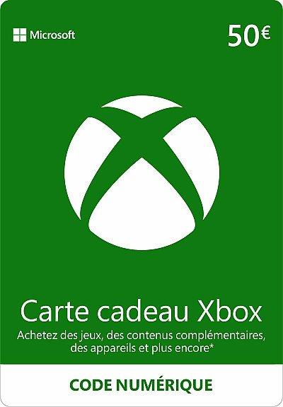 CARTE XBOX LIVE 50€ FR